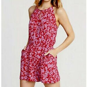 Old navy floral print romper with pockets